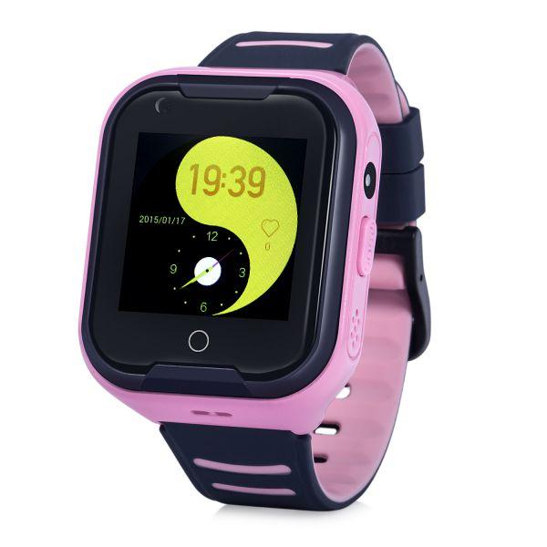 KT11-P Gyermek okosóra GPS nyomkövetővel RÓZSASZÍN