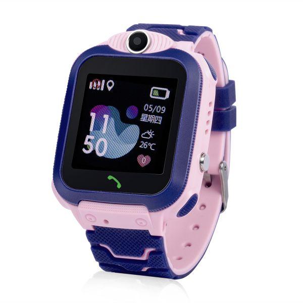 GW600S-P Gyermek okosóra GPS nyomkövetővel Rózsaszín