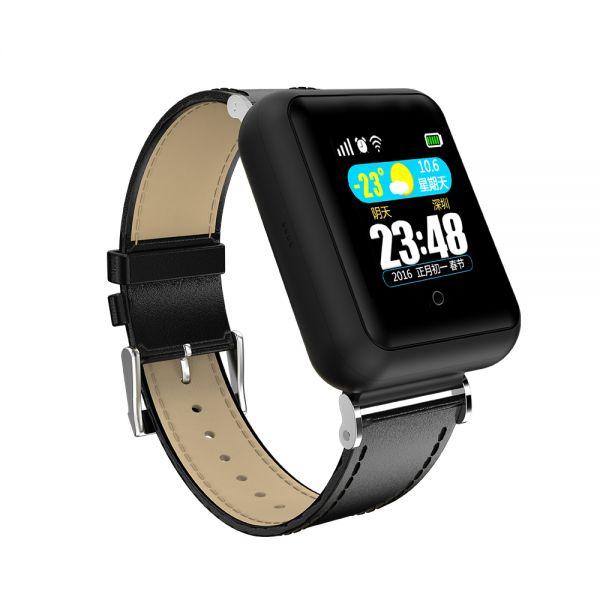 Időseknek okosóra GPS nyomkövetővel FEKETE (EW750-F)
