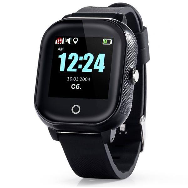 GW700S-F Tini okosóra GPS nyomkövetővel Fekete